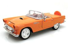 Motor Max 1/24 Scale 1956 Ford Thunderbird T-Bird Convertible Orange Diecast Car Model 73215 www.DiecastAutoWorld.com 2312 W. Magnolia Blvd., Burbank, CA 91506 818-355-5744 AUTOart Bburago Movie Cars First Gear GMP ACME Greenlight Collectibles Highway 61 Die-Cast Jada Toys Kyosho M2 Machines Maisto Mattel Hot Wheels Minichamps Motor City Classics Motor Max Motorcycles New Ray Norev Norscot Planes Helicopters Police and Fire Semi Trucks Shelby Collectibles Sun Star Welly