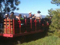 Wagon Ride at Valhalla, SLT, CA.  Camp Rich Corral