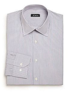 Saks Fifth Avenue Collection Regular-Fit Striped Cotton Dress Shirt -