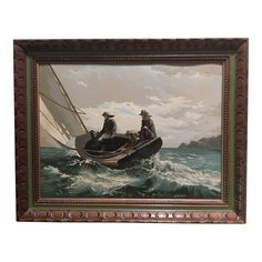 Mid Century Paint by Number Painting of Fishermen After Winslow Homer - Image 1 of 6