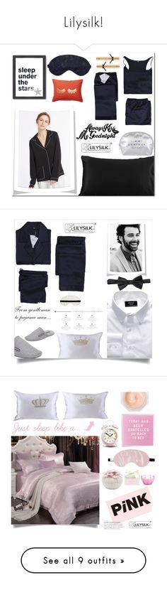 """Lilysilk!"" by samra-bv ❤ liked on Polyvore featuring Americanflat, Nordstrom Rack, Victoria's Secret, polyvoreeditoria, polyvorefashion, kissmegoodnight, lilysilk, Emporio Armani, men's fashion and menswear"