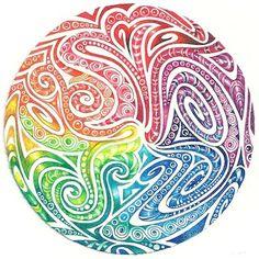 dibujos a colores zentangle - Buscar con Google