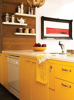 Paint Color Portfolio: Sunny Yellow Kitchens