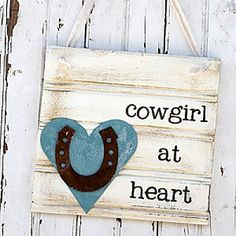 Cowgirl at Heart Sign  #gifts25andunder #gifts25andunderbedandbath #gifts25andunderjewelry #gifts25andunderunique #lavenderfields