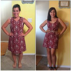 What a simple neckline alteration can do! Check out the tutorial on the blog! #refashion #sewing #DIY #thrifty