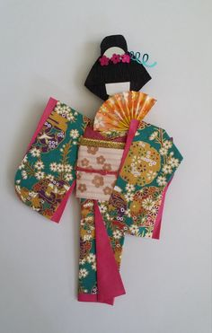 origami Washi Ningyo traditional Japanese Kimono by www.facebook.com/kitspaperworld