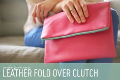 DIY fold over faux leather clutch. Simple project for those who want to practice sewing a zipper with your machine. The same principles of this DIY can be applied to making pillows with a zipper side. Enjoy!