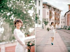 Fitted Style Short Wedding Dress Short by ApilatCreativeAtelie | Wedding Interest