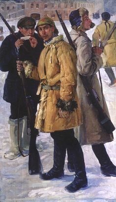 Ivan Drozdov - First Soldiers of the Red Army in the Year of 1918 (painted 1924)