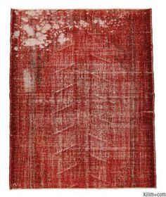 Over-dyed Anatolian Vintage Rug