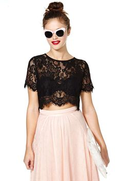 Persuasion Lace Crop Top | Shop Tops at Nasty Gal