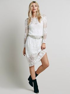 Free People Luna Lace Dress at Free People Clothing Boutique