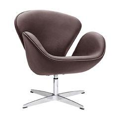 Swan Leather Lounge Chair | Modern Furniture Decor