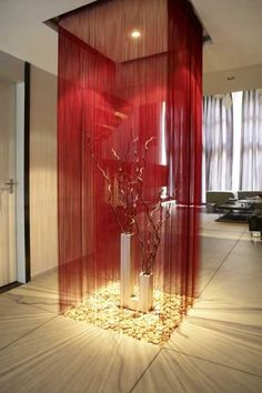 Cheap string curtain, Buy Quality curtains factory directly from China curtains prices Suppliers: Factory Price Solid Color String Curtain by 285 (One Piece) String Curtains, Home Curtains, Beaded Curtains, Red Curtains, Velvet Curtains, Interior Architecture, Interior And Exterior, Interior Design, Panel Room Divider