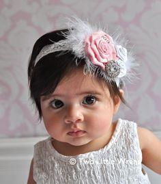 Baby Headband to Adult Headband - Custom Sophia Luxe Flower Headband with Swarovski Crystals - Your Choice of Colors