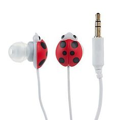 Auriculares de Mariquitas Phone Accesories, Computer Accessories, Usb Headphones, Ladybug Party, Miraculous Ladybug Memes, Phone Covers, Gadgets, Ear Phones, Lady Bugs