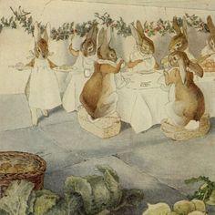 Беатрикс Поттер рождественская вечеринка кроликов