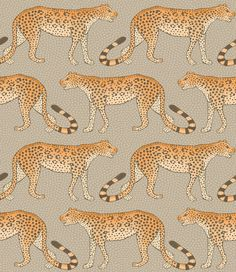 "Cole & Son ""Leopard Walk"" Sand Wallcovering"