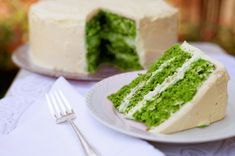 Green Velvet Cake for St. Patrick's Day!