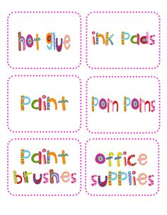 cute labels from the crazy for first grade blog!