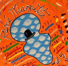 DONZELLI BRUNO - Ormare Renè Magritte - Serigrafia Polimaterica - 35 x 35 cm