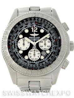 Breitling Professional B-2 Mens Chronograph Steel Watch A42362