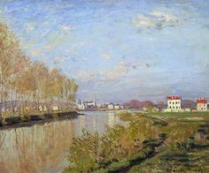 La Seine à Argenteuil (C Monet - W198),1872.