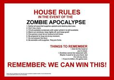 In the event of the Zombie Apocalypse...