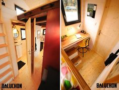 calypso-tiny-house-baluchon-10 Calypso Tiny House by Baluchon. Interesting use of space, as they made a kids room and bathroom with desk space.