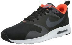 Nike Men's Air Max Tavas Black/Dark Grey/Total Crimson/White Running Shoe 12 ...