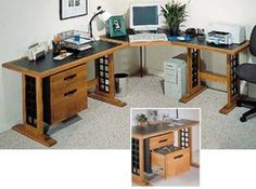 Computer Desk Woodworking Plan, Furniture Desks