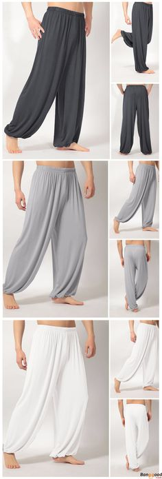 US$12.76 + Free Shipping. Loose Elastic Waist Yoga Morning Practice Sports Pants Lightweight Men Women Casual Bloomers. Color:Black,White,Gray,Dark Gray. Try This On, You Won't Regret.
