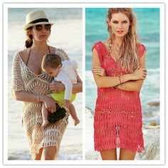 Saida De Praia Kaftan Beach Swimwear Cover Up Women Dress 2017 Crocheted Skirt Hollow Cangas Salidas Playa Renda