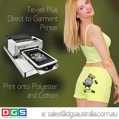 Let your creative juices flow. Print your own #tshirt on the #texjetplus #tshirtprinter #print whatever you want whenever you want. Full colour + white Print direct to garment Lowest running costs Can stay idle up to 30 days #create your own #fashion wear. www.dgsaustralia.com.au sales@dgsaustralia.com.au