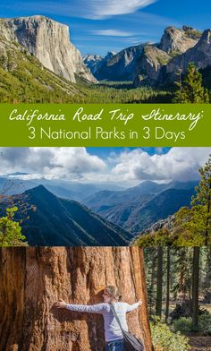 A California road trip itinerary that& perfect for a long weekend! The Majestic Mountain Loop passes through Yosemite, Sequoia, and Kings Canyon National Parks. Pin this roadtrip idea + save it for your next California vacation! California Vacation, California National Parks, Us National Parks, Yosemite Vacation, Northern California, California Road Trips, Sequoia California, California Fashion, California California