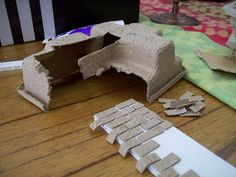 .egg carton bricks