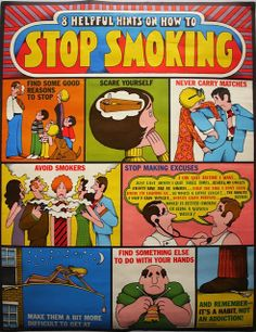 """Stop Smoking"" Poster by Lionel Kalish, 1971 - Lionel Kalish Image from oof"