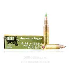 Federal American Eagle 5.56x45 Ammo - 20 Rounds of 62 Grain FMJ Ammunition #556x45 #556x45Ammo #Federal #FederalAmmo #Federal556x45 #FMJAmmo #AmericanEagle