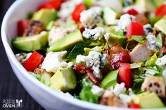 Chicken Bacon & Avocado Salad Recipe | gimmesomeoven.com