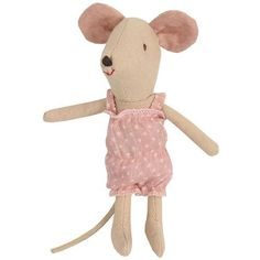 Peluches Maileg lapins et souris avec jouets au design danois Maileg