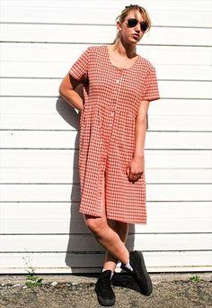 Vintage 90s Red Check Dress Check Dress cadec032b