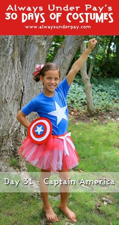 Day 31 – Captain America DIY Halloween Costume Tutorial + {GIVEAWAY!}   Always Under Pay's 30 Days of Costumes