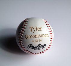Groomsmen Gift  Rawlings Baseball  Laser by TheSmilinBride on Etsy