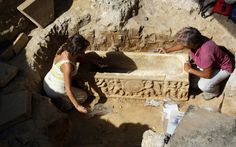 Ancient Roman sarcophagi discovered by chance next to Rome's football stadium and are thought to date from the third or fourth century AD