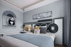 Decorando com a Si : Um apartamento familiar em estilo Art Deco Art Deco Bedroom, Kids Bedroom, Modern Vintage Decor, Room Interior, Interior Design, Estilo Art Deco, Girl Room, Room Decor, Furniture
