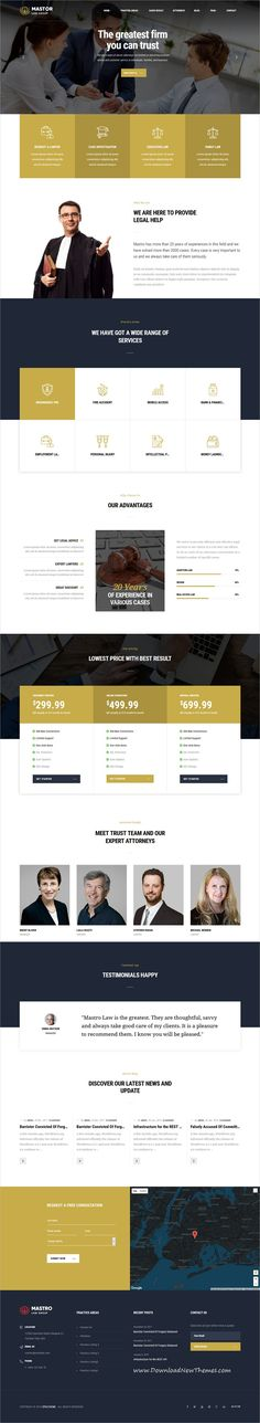 Mastor is a clean and modern design 7in1 responsive #WordPress theme for #Advocate, Lawyer, #attorney and law firms website to download & live preview click on image or Visit #webdesign