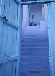 Blue: Blue door opening on to blue steps, pantone little boy blue, periwinkle blue, bright blue Blue Dream, Love Blue, Blue And White, Bleu Cyan, Delft, Little Boy Blue, Baby Blue, Bleu Turquoise, Himmelblau