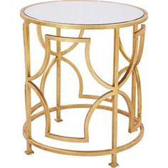 Albertine Mirrored Side Table