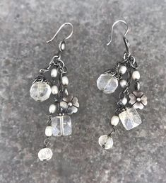 540c9700a Silpada Sterling Silver , Crystal And Pearl Dangle Earrings W1249 | eBay  Dangle Earrings, Dangles