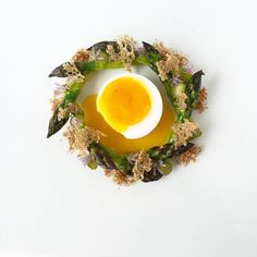 Soft Boiled Duck's Egg with Asparagus, Chive & Cured Cow's Heart by…